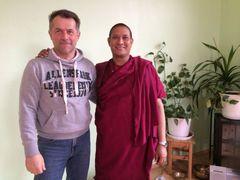 Am 12.3.16 war er zu Besuch bei uns und hat Vortäge gehalten über die buddhistische Lehre